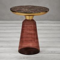 Vesunia Platte: Braun / Fuß: Rotbraun