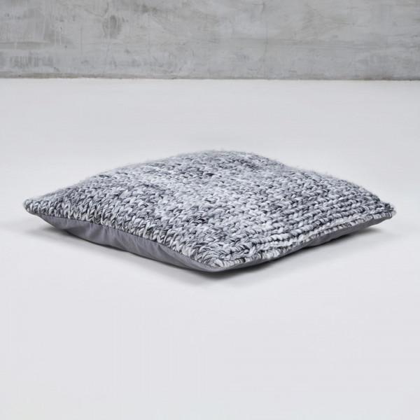 Sitzkissen Lamadea kuscheliges Bodenkissen mit gestrickter Hülle Breite 60 cm Tiefe 60 cm