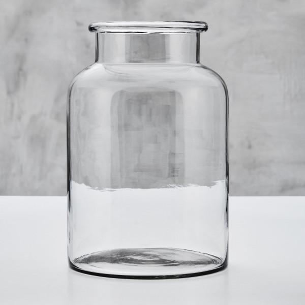 Blumenvase Beralotte Vase aus klarem Glas Durchmesser 20 cm Höhe 30 cm mit Flaschenhals