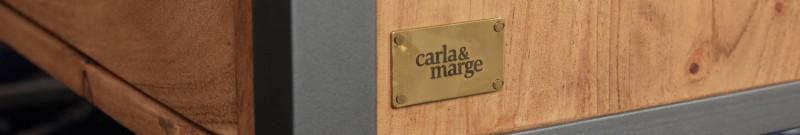 Detail eines Sideboards mit der Plakette von carla&marge