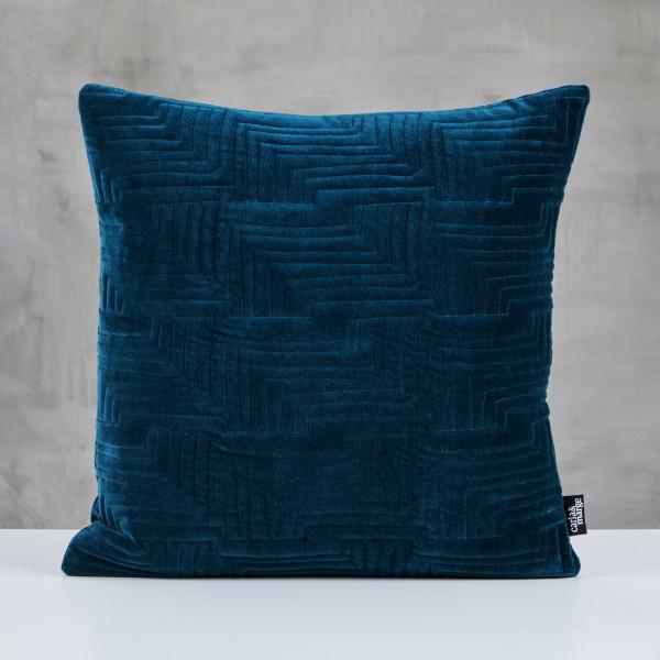 Dekokissen Dorliana Kissen Farbe Pacific Blue Samt-Bezug 100 % Baumwolle Tiefe und Breite 45 cm