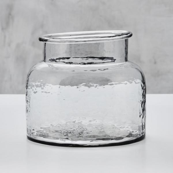 Blumenvase Dahlestia Glas Vase klar mit wulstigem Rand Durchmesser 24 cm Höhe 20 cm