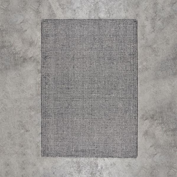 Teppich Kildra Tuftingteppich mit Rastermuster Design und einer Obermaterial aus 100 % Wolle handgetuftet Breite 170 cm Tiefe 240 cm