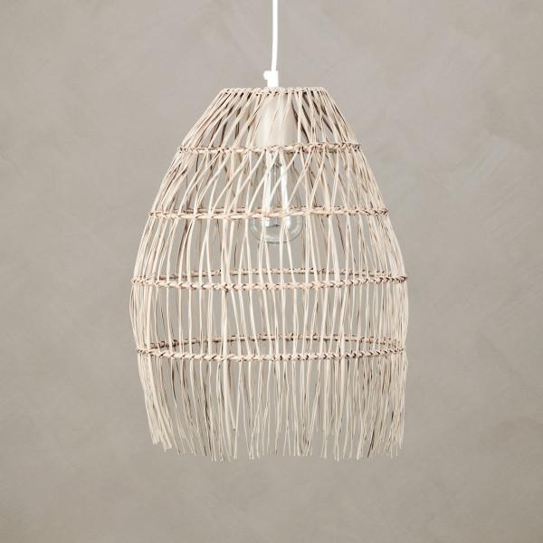 Hängelampe Lamikah aus geflochtenem lackierten Eisen Farbe Nude Lampenschirm Durchmesser 32 cm Höhe 41 cm