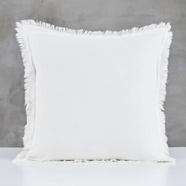 Kissen Babjola Sofakissen Kantenlänge 45 cm Bezug 100 % Baumwolle Farbe Ivory Elfenbein