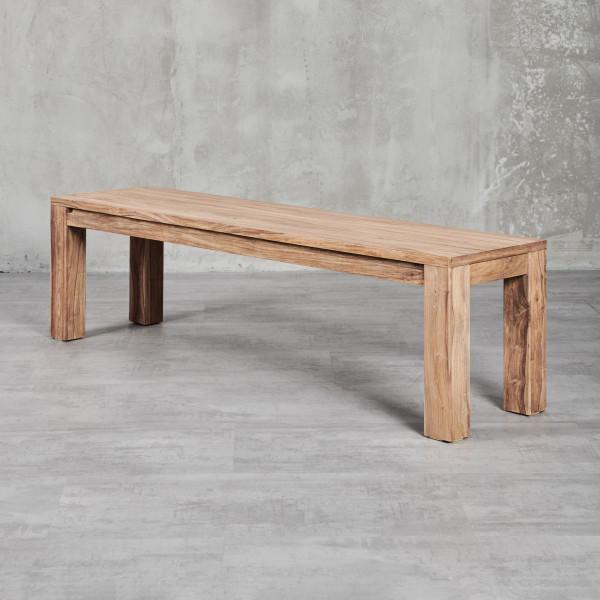 Sitzbank Jenko  mit modernem, geradlinigem Design, Höhe Breite Tiefe 45 cm 160 cm 40 cm und edlem Sheesham-Palisander Furnier