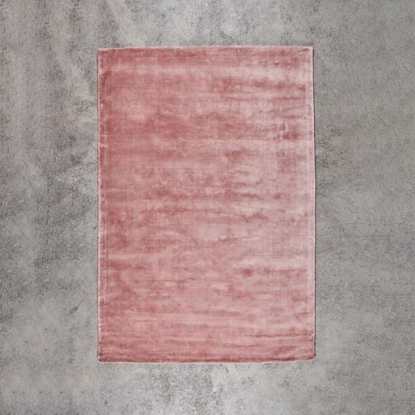 Teppich Rosieba Deko Teppich in Nude Rose Breite 160 cm Tiefe 230 cm aus Viskose und Baumwolle Niederflorteppich getuftet