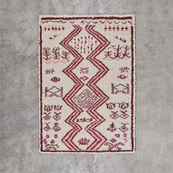 Hochflorteppich Salemia Breite 170 cm Tiefe 240 cm handgeknüpfter Teppich aus 100 % Neuseeland Wolle