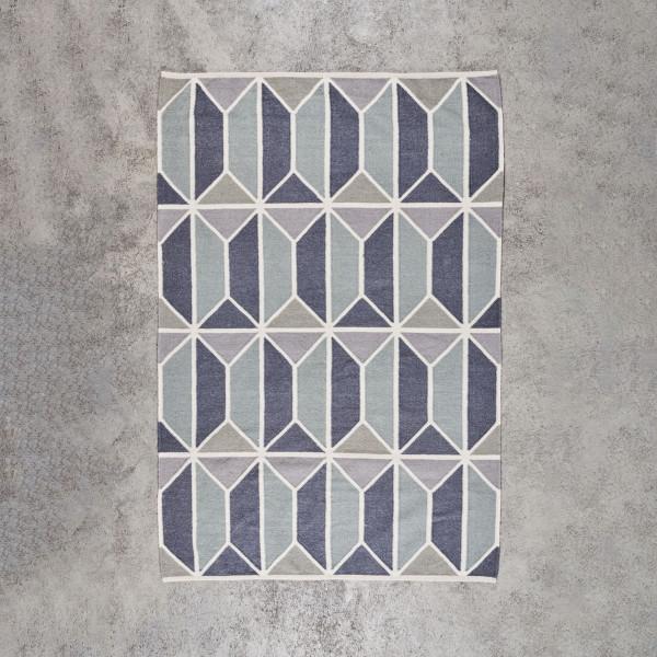 Deko Teppich Agnedra Länge 230 cm Breite 160 cm handgewebter Teppich mit Design Muster aus 90 % Wolle und 10 % Baumwolle