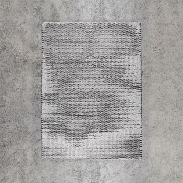Strickteppich Jirda aus 20 % Baumwolle und 80 % Wolle Teppich Größe Breite 160 cm Tiefe 230 cm oder Maße Breite 200 cm Tiefe 300 cm