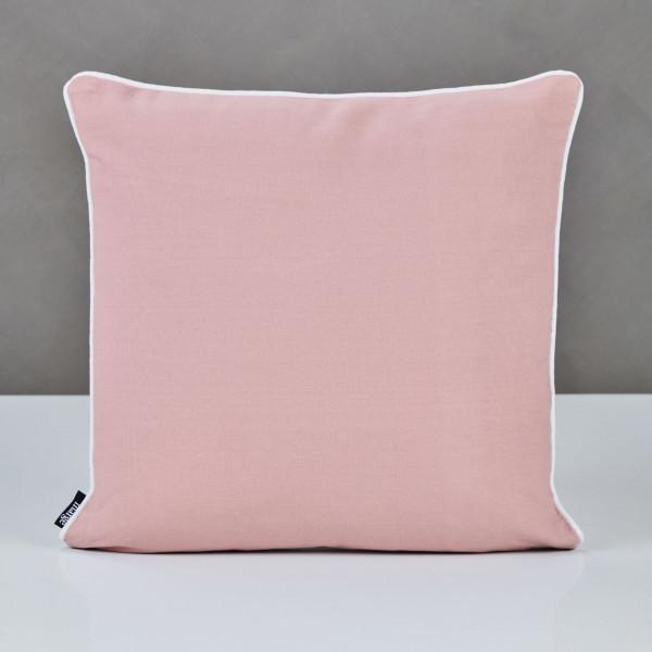 Dekokissen Dunielle Wendekissen Farben Taupe und Mahagony Rose Kantenlänge 45 cm Kissen Bezug mit Paspel aus 100 % Baumwolle