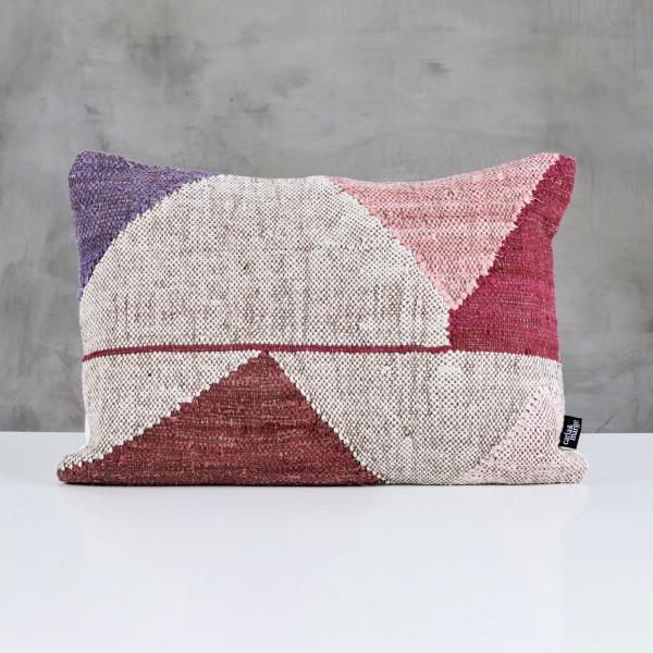 Dekokissen Pacorla Boho Design Kissen handgewebter Bezug aus 20 % Cotton und 80 % Wolle im Ethno Style Polster Länge 60 cm Höhe 40 cm